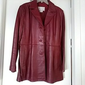 NINE WEST LEATHER JACKET/COAT